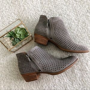 LUCKY BRAND Perforated Suede Booties